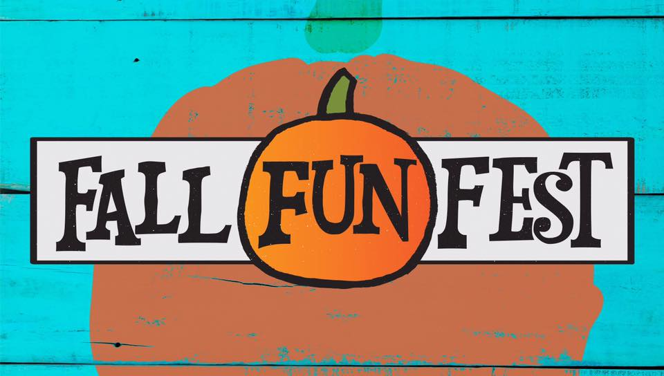 fall fun fest logo with pumpkin